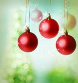 Christmas red ornaments — Stock Photo