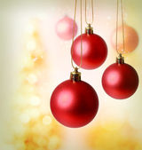 Red Christmas Ornaments — Stock Photo