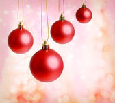 Red Christmas Ornaments — Stok fotoğraf