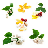 Collection of supplements — Stock Photo