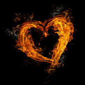 Heart made of fire — Stock Photo