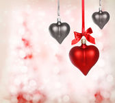 Valentine Heart Ornaments — 图库照片