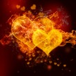Fire Hearts — Stock Photo