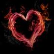 Pink Flaming Heart — Stock Photo