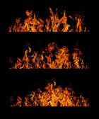 火焰集合 — 图库照片