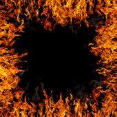 Hořící hranice — Stock fotografie
