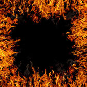 燃えるような境界線 — ストック写真