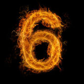 Flaming Number — Stock Photo