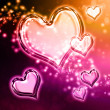 Hearts background — 图库照片 #18682789