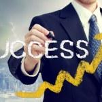 zakenman schrijven succes — Stockfoto