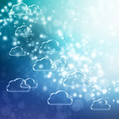 Cloud Shapes background — Stock Photo