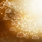 Golden Cloud Shapes background — Stock Photo