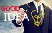 Businessman with a Good Idea — Foto de Stock