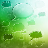 Speech Bubbles on Green Gradient Background — Stock Photo