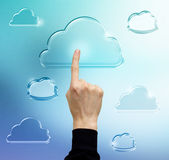 Pressing Cloud Computing Icon — Stock Photo