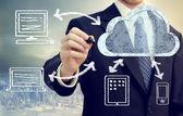 Concepto de computación en nube — Foto de Stock