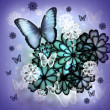 Stockfoto: Butterflies and Blossoms Illustration