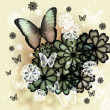 Butterflies and Blossoms Illustration — Stock Photo