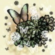 Butterflies and Blossoms Illustration — Stock Photo #19183835