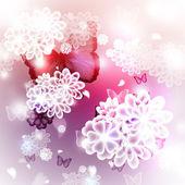 Illustration de fleurs et papillons — Photo