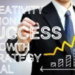 Businessman Writing Success Concepts — Stock Photo