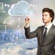 cloud computing-konzept — Stockfoto
