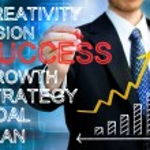 zakenman schrijven succes concepten — Stockfoto