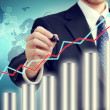 Businessman with Graph — Stock Photo