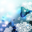 Stock Photo: Blossoms and Butterflies Illustration