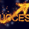Fiery Success with Arrows — Stock Photo