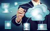Cloud-computing-konzept — Stockfoto