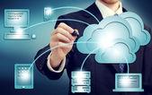 Cloud-computing-konzept — Stockfoto