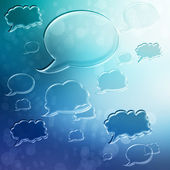 Speech Bubbles on Blue Gradient Background — Stock Photo