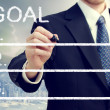 Businessman Listing Goals — Foto de Stock