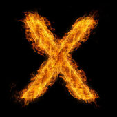 Flaming Letter X — Stock Photo