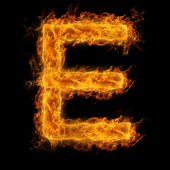 Flaming Letter E — Stock Photo