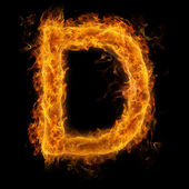 Flaming Letter D — Stock fotografie