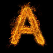 Flaming Letter A — Stock Photo