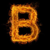 Flaming Letter B — Stock Photo