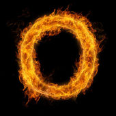 Flaming Letter O — Stock Photo