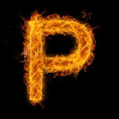 Flaming Letter P — Stock Photo