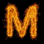 Flaming Letter M — Stock Photo