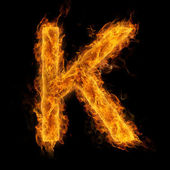 Flaming Letter K — Stock Photo