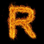 Flaming Letter R — Stock Photo