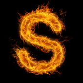 Flaming Letter S — Stock Photo