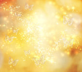 Butterfly Yellow Lights Background — Stock Photo