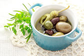 Olives in little pot — Stock Photo