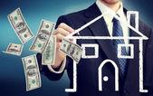 Comprar o vender un concepto de casa — Foto de Stock