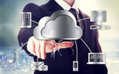 Business man with cloud computing theme — Stock Photo