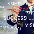 Business man with concepts of innovation and success — Stock Photo